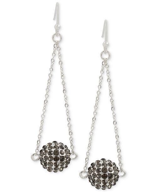 Touch of Silver Pavé Ball Chandelier Earrings in Silver-Plate