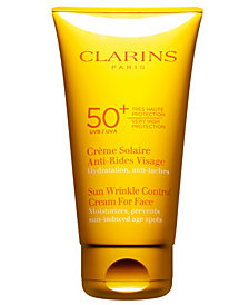 Clarins Sunscreen For Face Wrinkle Control Cream SPF 50+, 2.5 oz
