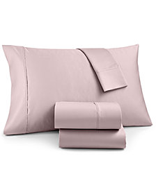 AQ Textiles Marlow 4-Pc King Sheet Set, 1800 Thread Count Cotton Blend