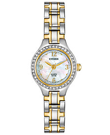 Citizen Women's Quartz Two-Tone Stainless Steel Bracelet Watch 22mm, Created for Macy's