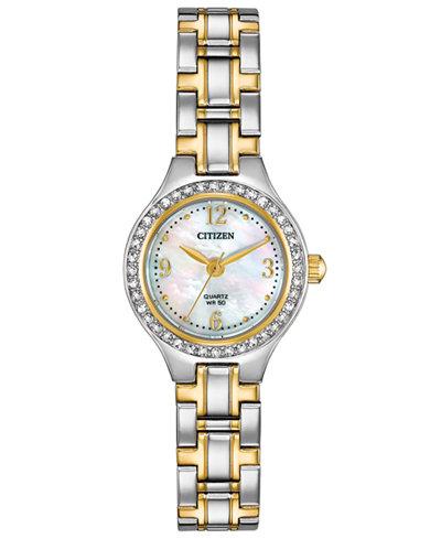 Citizen Women's Quartz Two-Tone Stainless Steel Bracelet Watch 22mm, Created for Macy's