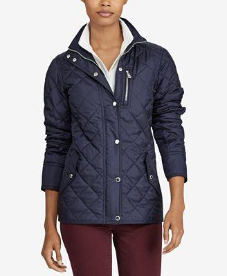 Lauren Ralph Lauren Diamond-Quilted Jacket - Jackets - Women - Macy's : quilted ralph lauren jacket - Adamdwight.com