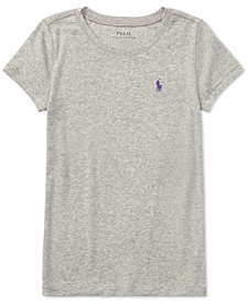 Ralph Lauren Cotton Short-Sleeve Tee, Big Girls
