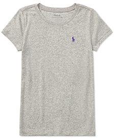 Ralph Lauren Cotton Short-Sleeve Tee, Big Girls