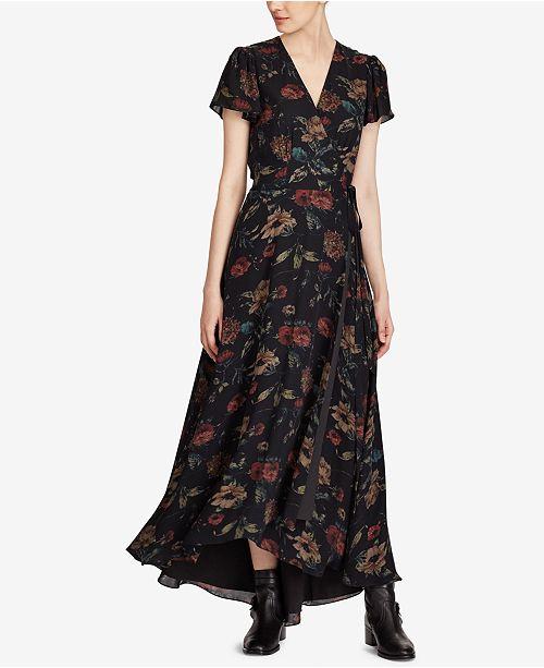 7e9f40863e93 Polo Ralph Lauren Floral-Print Silk Maxi Dress & Reviews - Dresses ...