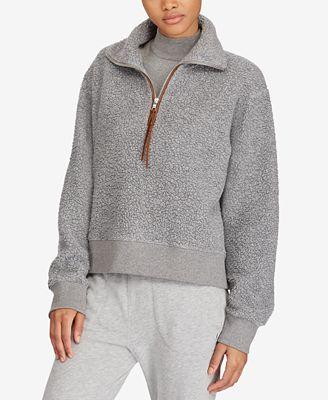 Polo Ralph Lauren Fleece Half-Zip Pullover - Tops - Women - Macy's