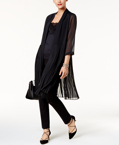Alfani Petite Pleated-Hem Jacket, Created for Macy's