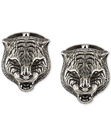 Gucci Men's Cat Head Cuff Links in Sterling Silver YBE43285800100U
