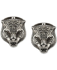 Gucci Men's Cat Head Cuff Links in Sterling Silver