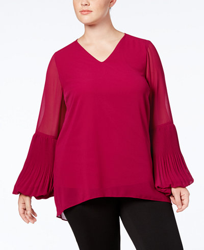 Alfani Plus Size Bell-Sleeve Tunic, Created for Macy's