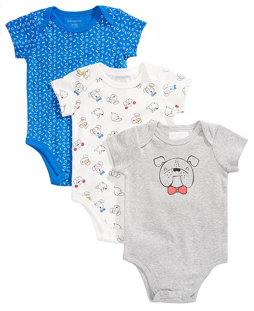 5b66e44dbd First Impressions 3-Pk. Puppy Cotton Bodysuits