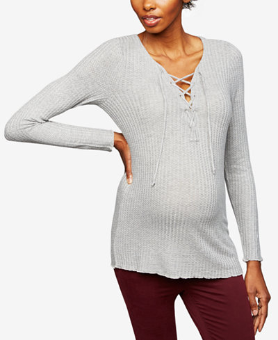 Chaser Maternity Lace-Up Top