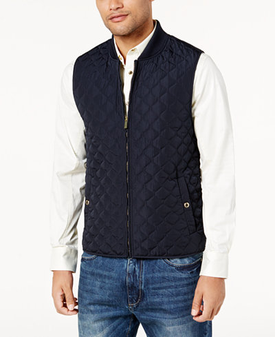 Sean John Men's Big & Tall Quilted Vest - Coats & Jackets - Men ...