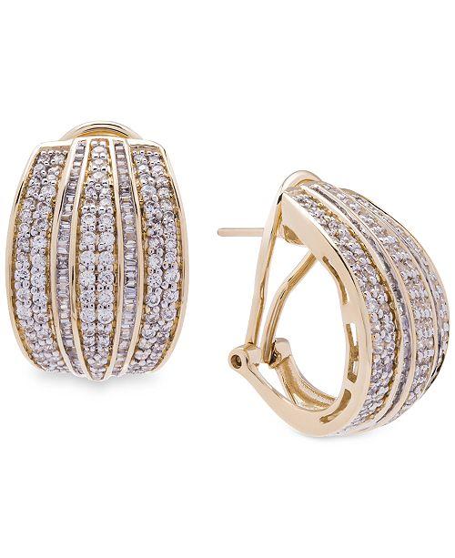 Wrapped in Love Diamond Hoop Earrings (2 ct. t.w.) in 14k Gold, Created for Macy's