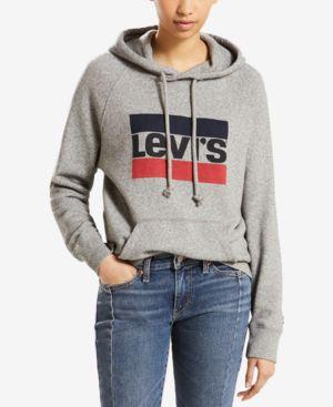 Graphic Sportswear Hoodie - Grey