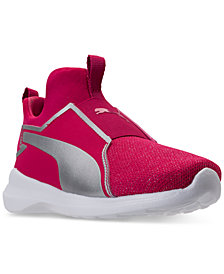Puma Little Girls' Rebel Mid Jr Training Sneakers from Finish Line