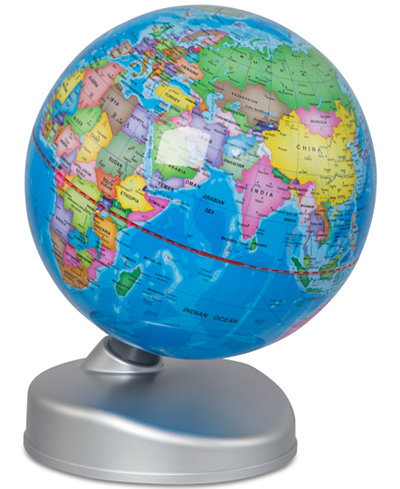 Sharper Image Discovery Earth Globe 2 In 1 Day Amp Night