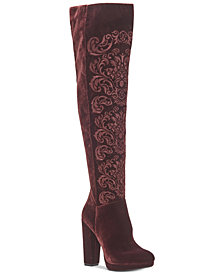 Jessica Simpson Grizella Platform Velvet Over-The-Knee Boots