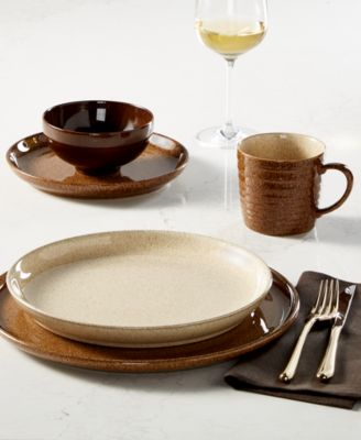 Studio Craft Chestnut 12 Piece Dinnerware Set, Service for 4