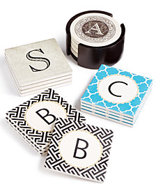 Thirstystone Monogram Coaster Set Collection