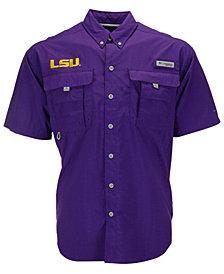 Columbia Men's LSU Tigers Bahama Short Sleeve Button-Up Shirt