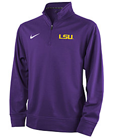Nike LSU Tigers Dri-Fit Quarter Zip Pullover Shirt, Big Boys (8-20)