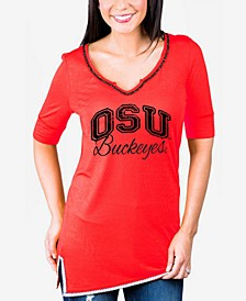 Women's Ohio State Buckeyes Beaded Neckline T-Shirt