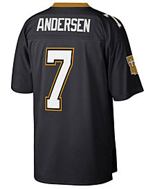 Mitchell & Ness Men's Morten Andersen New Orleans Saints Replica Throwback Jersey