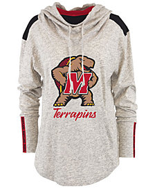 Pressbox Women's Maryland Terrapins Gibson Long Sleeve Hooded Sweatshirt