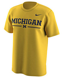 Nike Men's Michigan Wolverines Fresh Trainer Hook T-Shirt