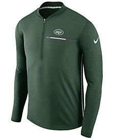 Nike Men's New York Jets Coaches Quarter-Zip Pullover