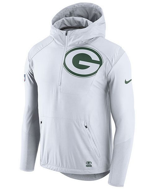 8b9cf84fd Nike Men's Green Bay Packers Lightweight Fly Rush Jacket & Reviews ...