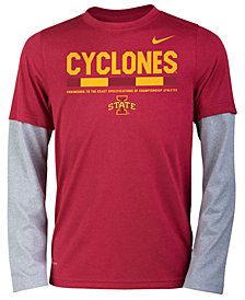Nike Iowa State Cyclones Legend Long Sleeve Staff T-Shirt, Big Boys (8-20)
