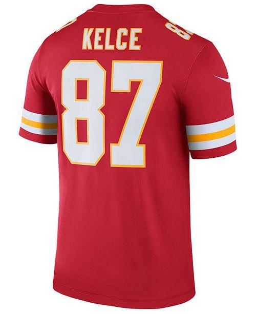 431930e8cd420 ... Nike Men's Travis Kelce Kansas City Chiefs Legend Color Rush Jersey ...