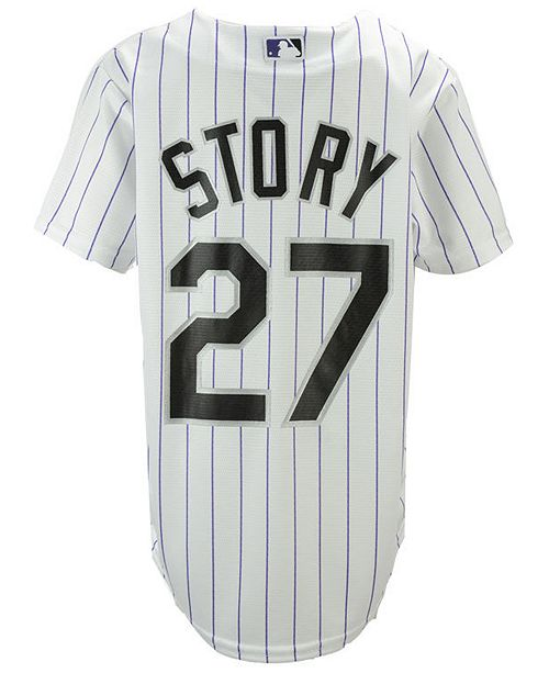 huge discount b9fb6 0dd85 Majestic Trevor Story Colorado Rockies Player Replica CB ...