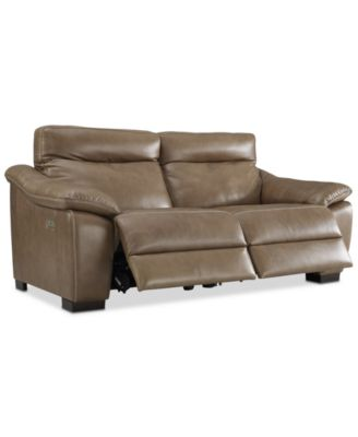 "Gennaro 82"" 2-pc Leather Power Reclining Sofa with Power Headrests, Created for Macy's"