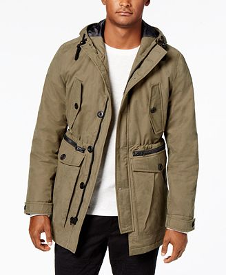 American Rag Men's Cargo Parka, Created for Macy's - Coats ...
