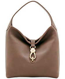 Dooney & Bourke Belvedere Lock Pebble Leather Hobo