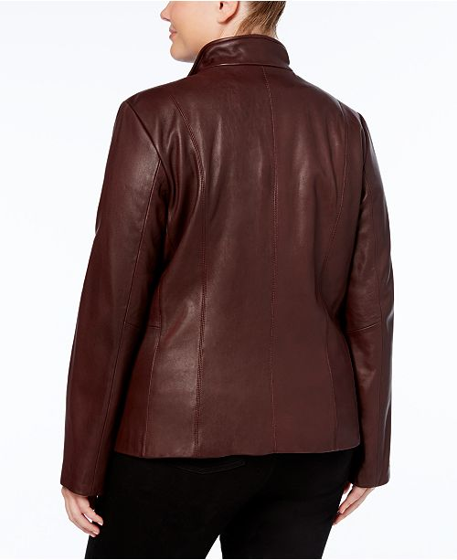 Jacket Leather Size Plus Cole Chianti Signature Haan 4xqAXHnwTO