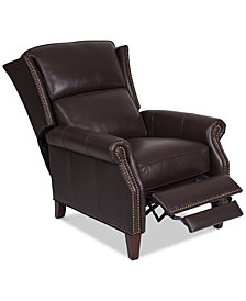Anguria Pushback Leather Recliner