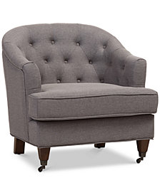 Ostin Upholstered Armchair, Quick Ship
