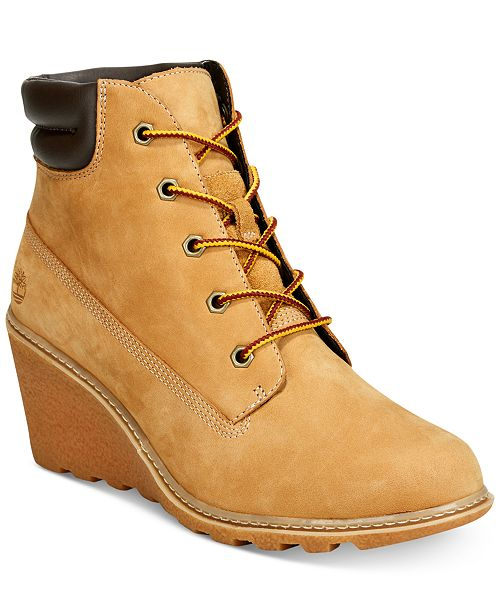 Timberland Women s Amston Wedge Booties - Boots - Shoes - Macy s a84e67e877