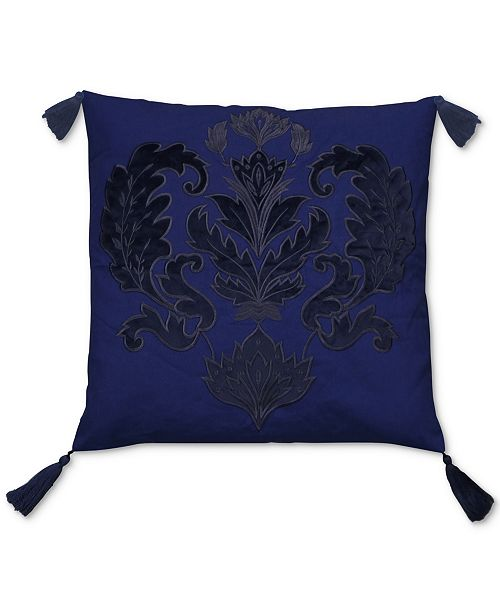 Hallmart Collectibles LAST ACT Jewel Tone Blue Embroidered Appliqué Extraordinary Jewel Tone Decorative Pillows