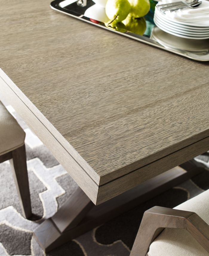 Furniture Rachael Ray Highline Expandable Trestle Dining Table & Reviews - Furniture - Macy's