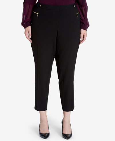 Calvin Klein Plus Size Straight-Leg Ankle Pants