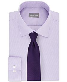 Michael Kors Men's Textural Dress Shirt & Herringbone Twill Panel Tie