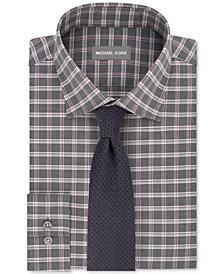 Michael Kors Men's Check Dress Shirt & Pin Dot Melange Tie