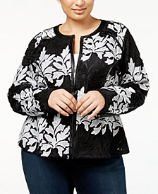 I.N.C. Plus Size Lace Jacket, Created for Macy's