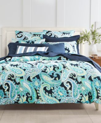 Multi Paisley 300-Thread Count 2-Pc. Twin Comforter Set, Created for Macy's