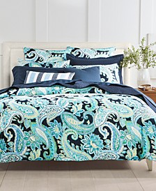 CLOSEOUT! Multi Paisley Cotton 300-Thread Count Bedding Collection, Created for Macy's